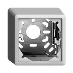 Feller EDIZIOdue Sockel 54mm, 5er-Pack, AP, weiss, Kappe mit Befestigungsbügel,