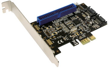 Serial ATA + IDE PCI-Express Karte, 2 + 1 Port