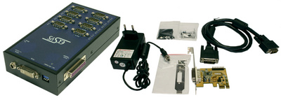 Serielles 16C950 RS232 PCI-Express Modulsystem, 8-Port