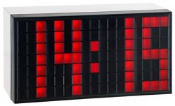 TFA Funk-Wecker Time Block, rot, Weckalarm mit Snooze-Funktion, groáe rote LED Leuchtziffern,