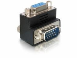 Adapter VGA Stecker auf VGA Buchse, 90 Grad Winkeladapter