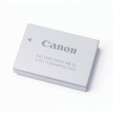 Canon Akku NB-5L Original zu IXUS 950IS, Lithium-Ionen-Akku, 1120 mAh / 3.7 Volt