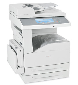 Lexmark X864de 3, Schwarzweiss Laser Drucker, A3, 55 Seiten pro Minute, Drucken, Scannen, Kopieren, Duplex