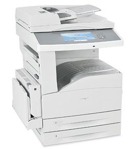 Lexmark X - 862de 4, Schwarzweiss Laser Drucker, A3, 45 Seiten pro Minute, Drucken, Scannen, Kopieren, Fax, Duplex