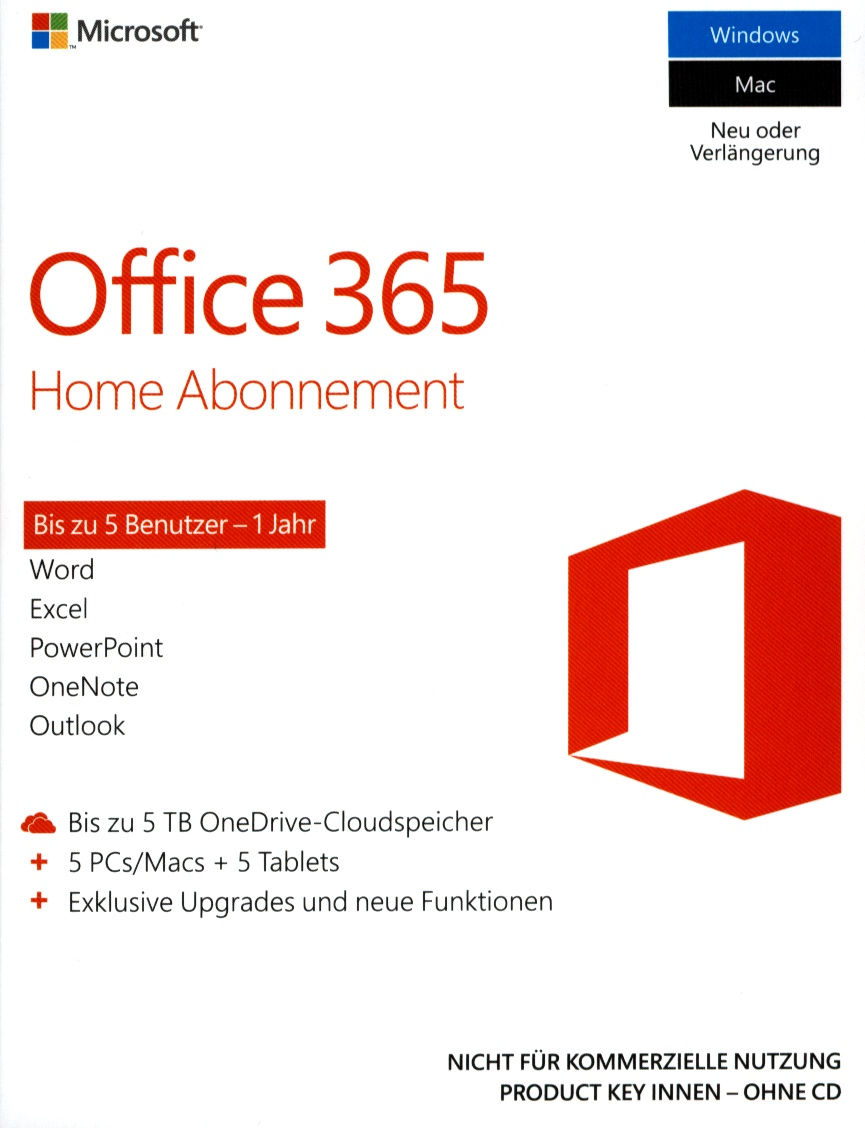 Office 365 Home Premium 1 year dt.