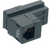 Telefon Adapter: T+T89 auf RJ12 6P/2C, weiss, für CH-Telefone,Swisscom kompatibel