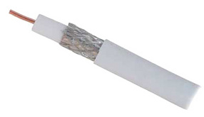 shiverpeaks BASIC-S Antennen Koaxial-Kabel 75 Ohm, PVC, wei?