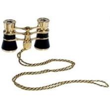 Danubia Fernglas Opernglas 101 3x24, schwarz/gold, achromatische Optik, inkl. Aufbewahrungstasche