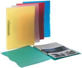 Ringbuch Trend, aus PP, DIN A5, blau-transparent