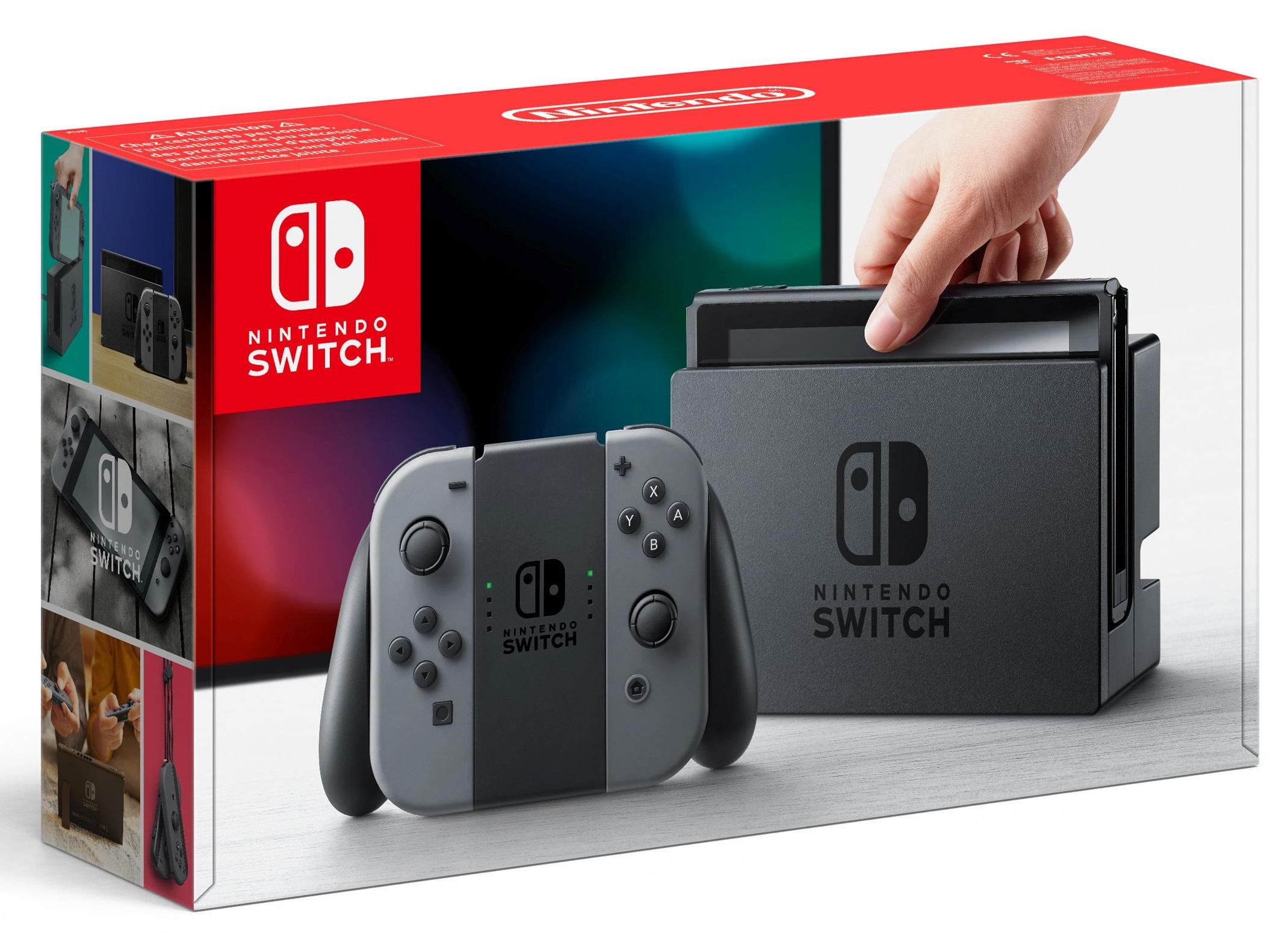 Nintendo Switch Console - grey [NSW] (D/F/I)