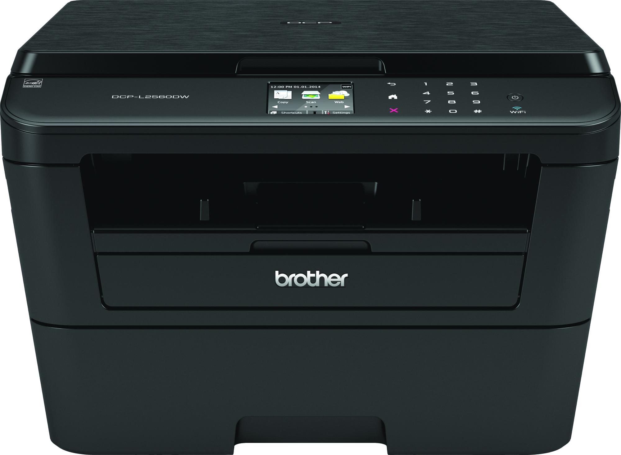 Brother DCP-L2560DW, Schwarzweiss Laser Drucker, A4, 30 Seiten pro Minute, Drucken, Scannen, Kopieren, Duplex und WLAN