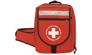 LEINA Erste-Hilfe-Notfallrucksack, Inhalt DIN 13160, rot