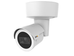 AXIS M2026-LE White Day/night, compact and outdoor-ready bullet style HDTV camera, IP66- and IK08-rated. Built-in IR illumination and WDR. Fixed lens with 130° HFOV. Automatic IR cut filter. Multiple, individually configurable H.264 and Motion JPEG s