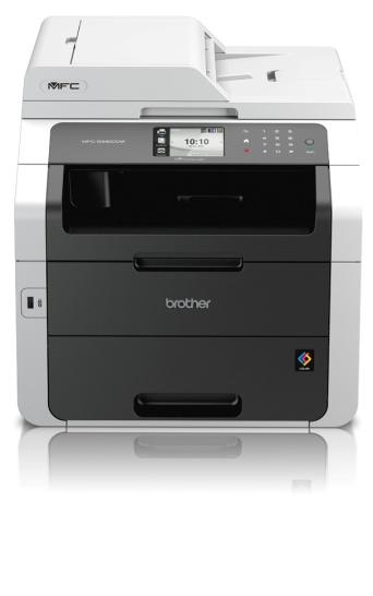 Brother MFC-9340CDW, Farblaser Drucker, A4, 22 Seiten pro Minute, Drucken, Scannen, Kopieren, Fax, Duplex und WLAN