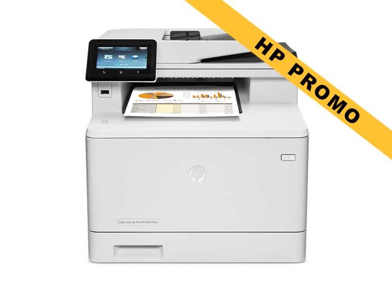 Hewlett-Packard HP MFP M477fdw, Farblaser Drucker, A4, 27 Seiten pro Minute, Drucken, Scannen, Kopieren, Fax, Duplex und WLAN