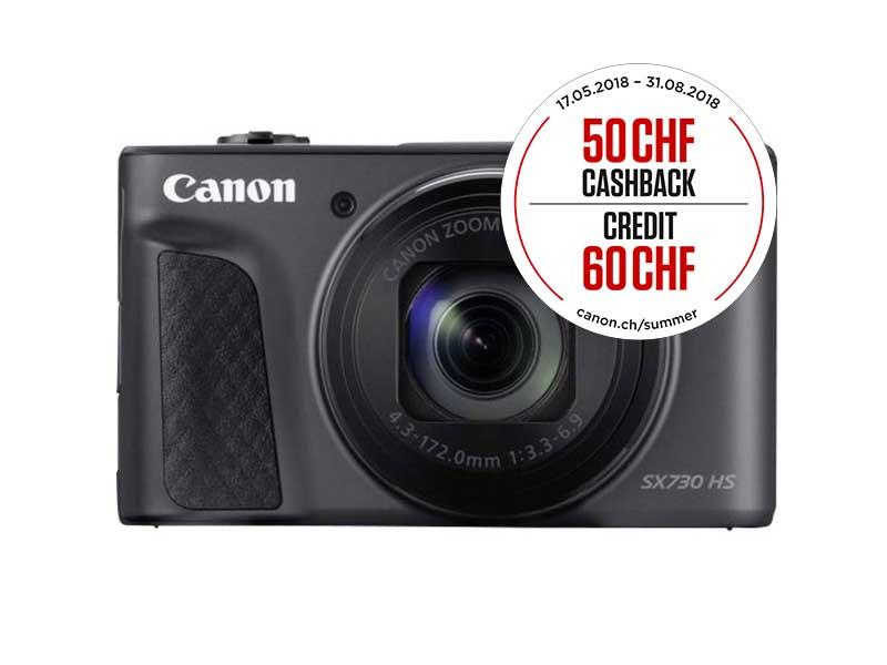 Canon PowerShot SX730HS, Kompaktkamera, 3 zoll LCD, 21.1 MP, 5184 x 3888 Pixel, 40 x optischer Zoom, 4 x Digitales Zoom, SD-SDHC-SDXC, Schwarz