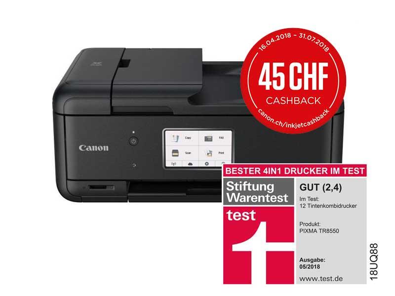 Canon Multifunktionsdrucker TR8550, Farbe Tintenstrahl Drucker, A4, 15 Seiten Pro Minute, Drucken, Scannen, Kopieren, Fax, Duplex und WLAN