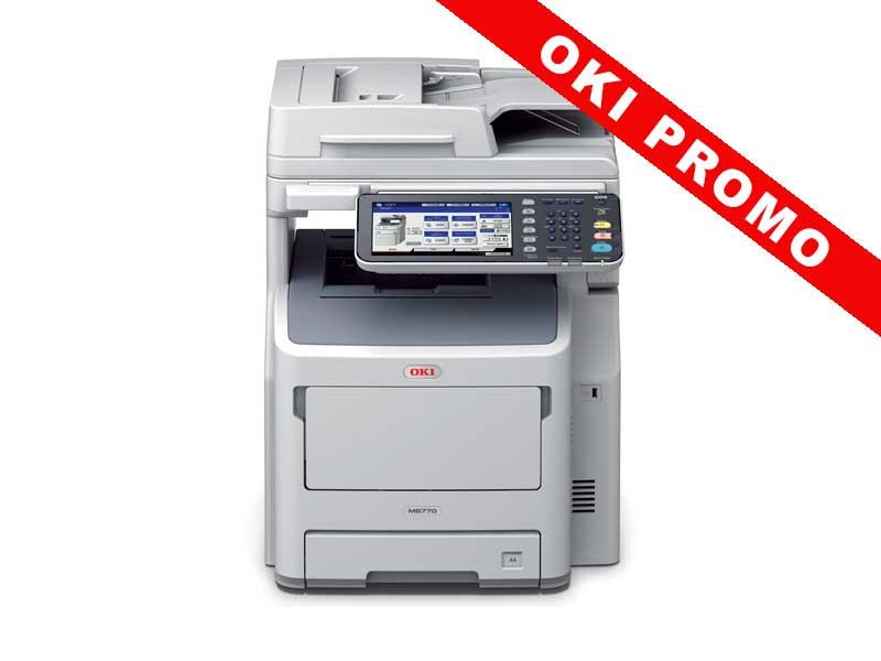 OKI MB770dnfax, Schwarzweiss Laser Drucker, A4, 52 Seiten pro Minute, Drucken, Scannen, Kopieren, Fax, Duplex