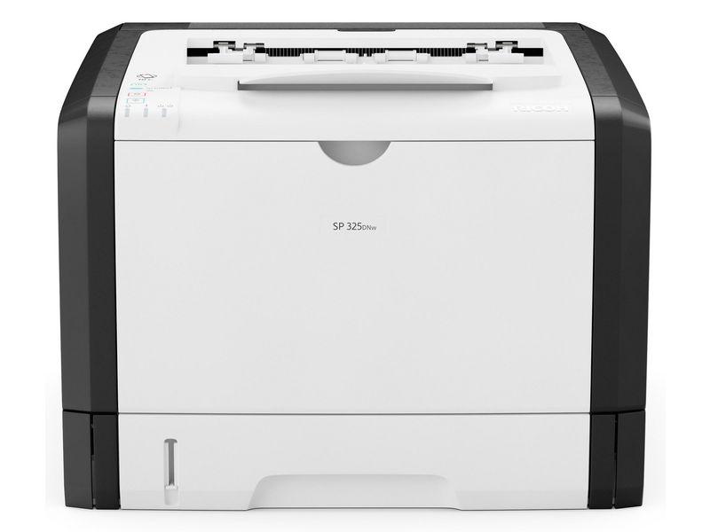 Ricoh Drucker SP 325DNW, Verbindungsmöglichkeiten: LAN; NFC; USB 2.0; WLAN, Druckertyp: Schwarz-Weiss, Drucktechnik: Laser, Total Fassungsvermögen Papierzuführungen: 300 Seiten, Anzahl Papierzuführungen (integriert): 2, Funktionen: Drucken, Anzahl Pa