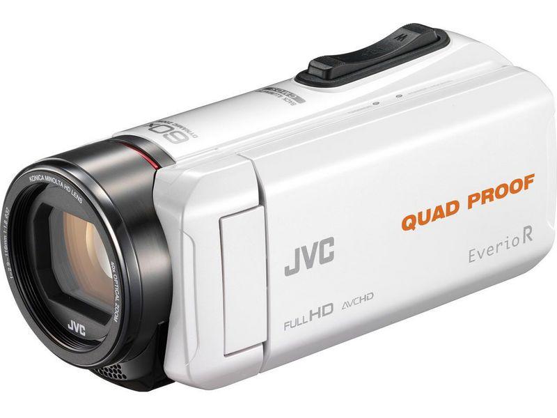 JVC Videokamera GZ-R435W, Widerstandsfähigkeit: Wassergeschützt; Stossgeschützt; Staubgeschützt; Frostbeständig, Bildschirmdiagonale: 3 \