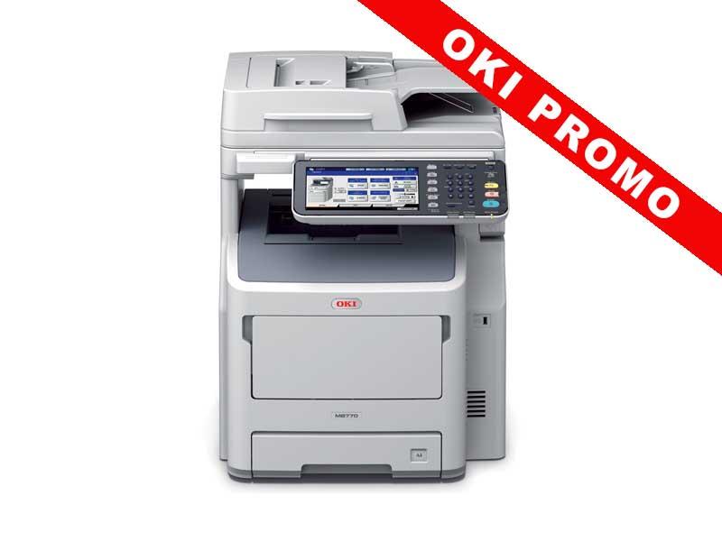 OKI MB770DN, Schwarzweiss Laser Drucker, A4, 52 Seiten pro Minute, Drucken, Scannen, Kopieren, Duplex