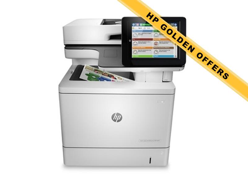Hewlett-Packard HP MFP M577f, Farblaser Drucker, A4, 38 Seiten pro Minute, Drucken, Scannen, Kopieren, Fax, Duplex