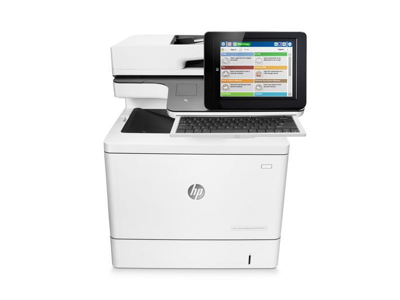 Hewlett-Packard HP Color LaserJet Enterprise Flow MFP M577c, Farblaser Drucker, A4, 38 Seiten pro Minute, Drucken, Scannen, Kopieren, Fax, Duplex und WLAN