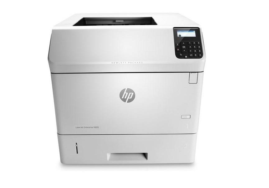 Hewlett-Packard HP LaserJet Enterprise M605dn, Schwarzweiss Laser Drucker, A4, 55 Seiten pro Minute, Drucken