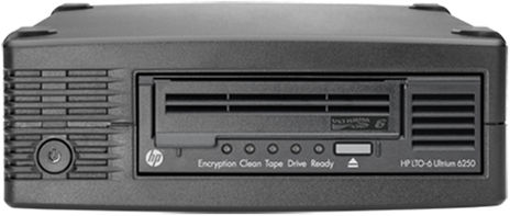 HP StoreEver Tape Drive LTO-6 Ultrium 6250 SAS Extern, incl. 5 pieces of media, GOLDEN OFFER