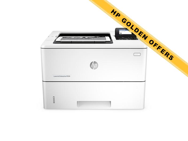 Hewlett-Packard HP LaserJet Enterprise M506dn, Schwarzweiss Laser Drucker, A4, 43 Seiten pro Minute, Drucken, Duplex