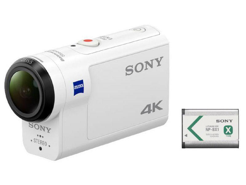 Sony Actioncam FDR-X3000RFDI inkl. Zusatzakku, Widerstandsfähigkeit: Wassergeschützt; Stossgeschützt; Staubgeschützt, Speicherkartentyp: Micro-SDXC; Micro-SDHC; Micro-SD, Bildsensor Auflösung: 8.2 Megapixel, Farbe: Weiss, Wasserschutz bis (m): 60, Bi