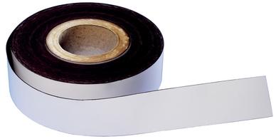 Magnetband, PVC, weiß, 50 mm x 30 m