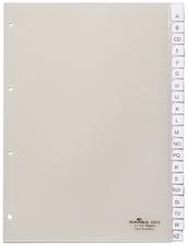 Kunststoff-Register, A4, 12-teilig, transparent