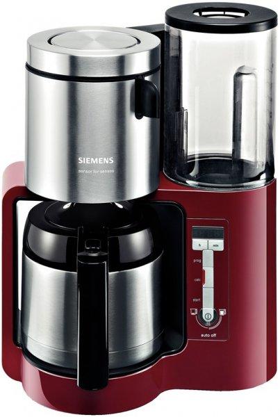 Filter-/Thermokaffeemaschine TC86504 rot, 8/12 Tassen, 1 Liter, Edelstahl Thermokanne,