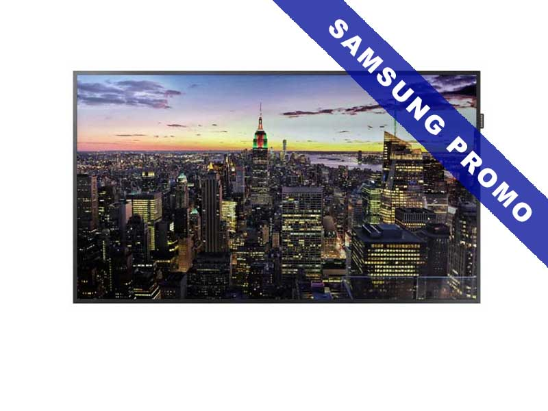 Samsung Public Display QM75F, 75 Zoll LED, 3840 x 2160 Pixel Full HD, 16:9, DVI HDMI, Schwarz