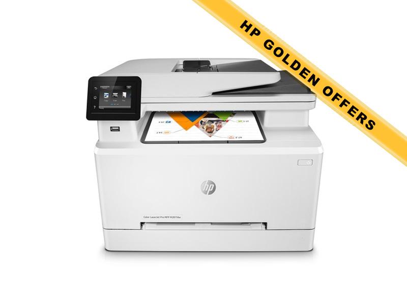 Hewlett-Packard HP Color LaserJet Pro MFP M281fdw, Farblaser Drucker, A4, 21 Seiten pro Minute, Drucken, Scannen, Kopieren, Fax, Duplex und WLAN