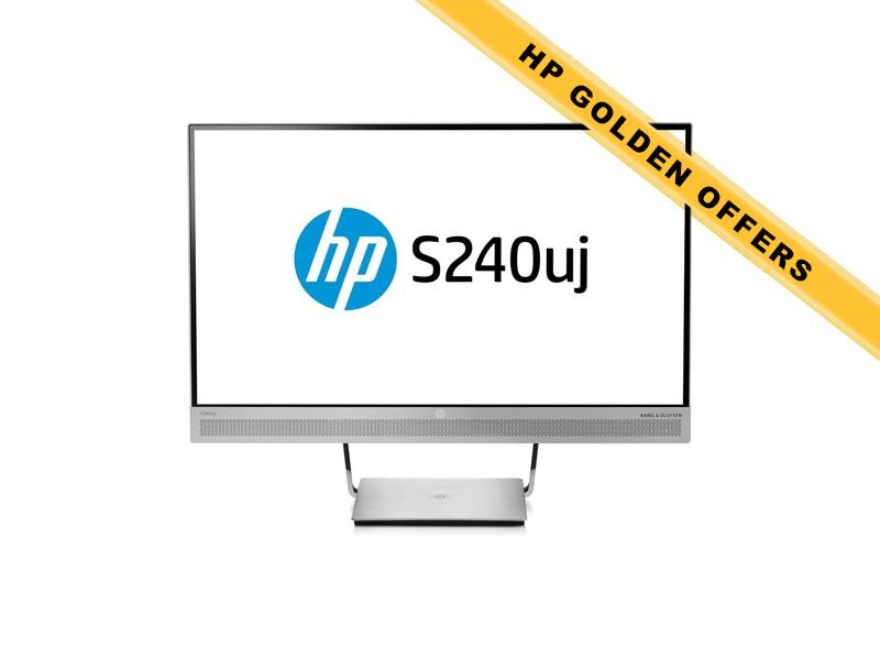 Hewlett-Packard  HP EliteDisplay S240uj, 23.8 Zoll LED, 1920 x 1080 Pixel, 16:9, HDMI USB, Silber
