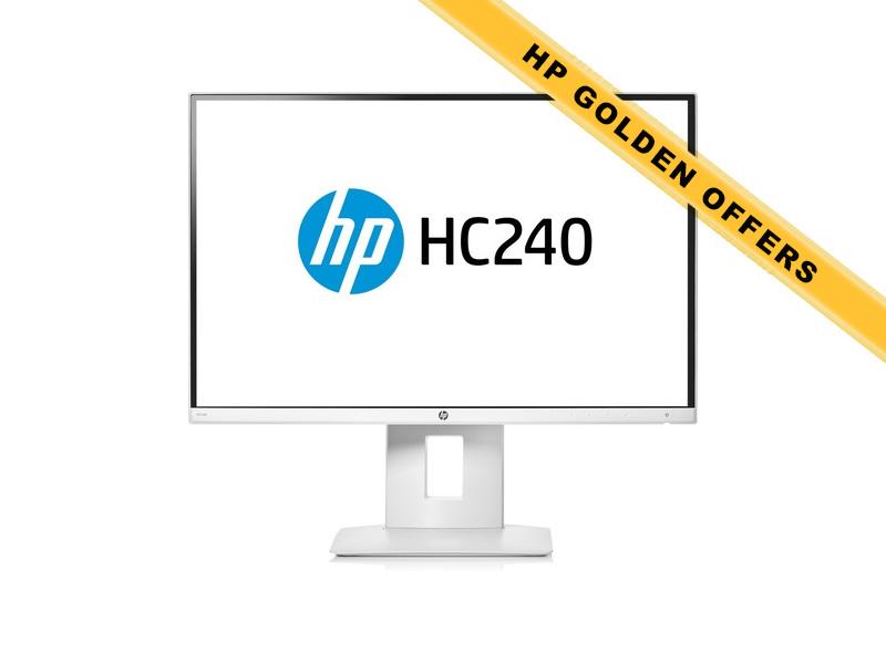 Hewlett-Packard HP HC240, 24 Zoll LED, 1920 x 1200 Pixel, 16:10,  HDMI USB, Weiss