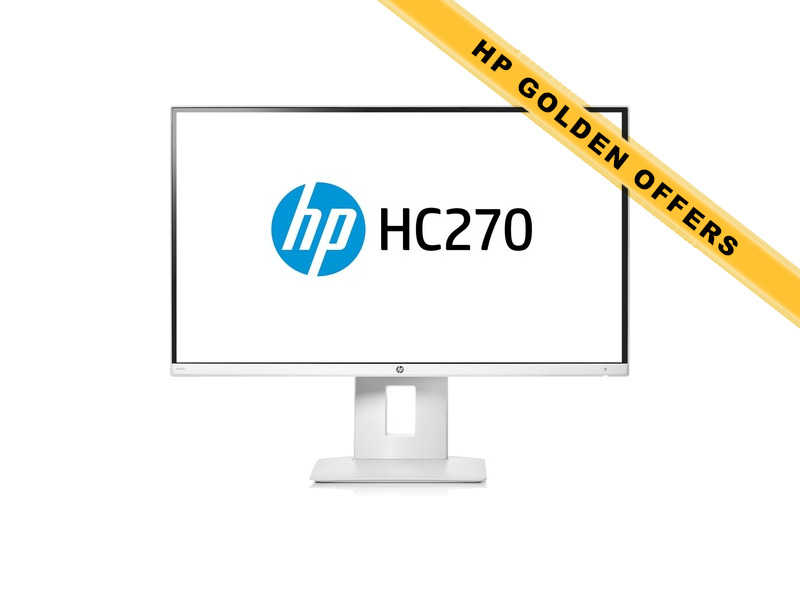 Hewlett-Packard  HP HC270, 27 Zoll LED, 2560 x 1440 Pixel, 16:9, HDMI USB, Weiss