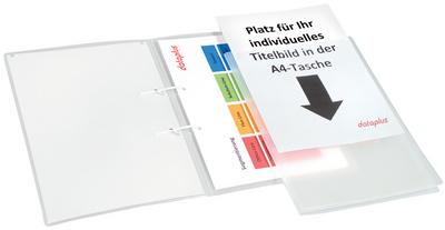 Schnellhefter mit DIN A4-Tasche, natur-transparent