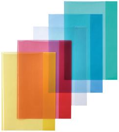 Heftschoner DIN A4, PP, transparent-blau