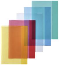 Heftschoner DIN A5, PP, transparent-blau