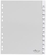 Kunststoff-Register, A4, PP, 12-teilig, wei?
