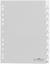Kunststoff-Register, A4, PP, 10-teilig, wei?