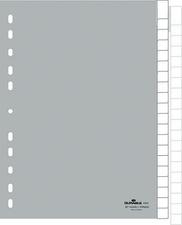 Kunststoff-Register, A4, PP, 20-teilig, grau