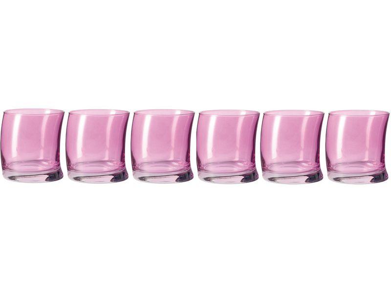 Glas Swing viola 355ml, Glas Typ: Trinkglas, Farbe: Violett, Verpackungseinheit: 6 Stück, Volumen: 3.55 dl, hochwertige, langlebige Hydroglasur