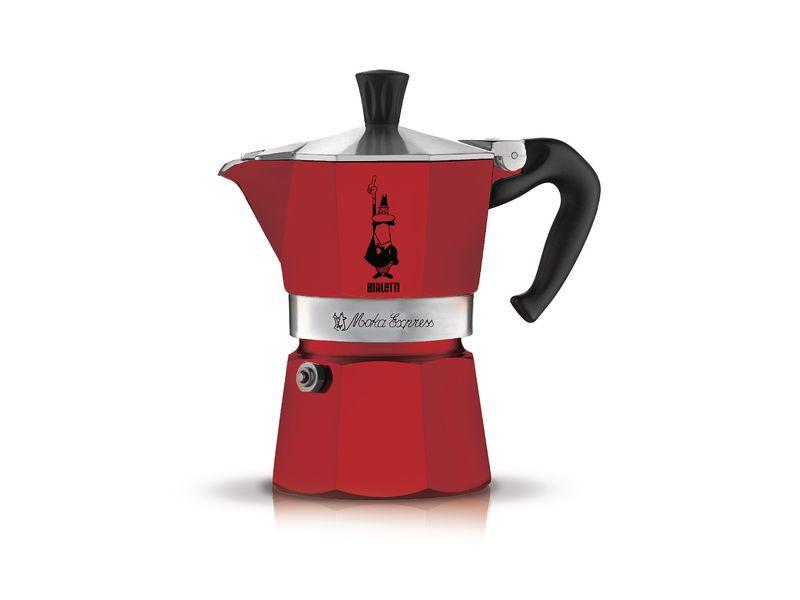 Espressokanne Moka Express rouge 3 tasse Betriebsart: Manuell, Kompatible Kochfelder: Ceran, Halogen, Elektrisch, Gas, Farbe: Rot, Anzahl Tassen: 3 ×, Diese Version ist nicht für Induktion geeignet