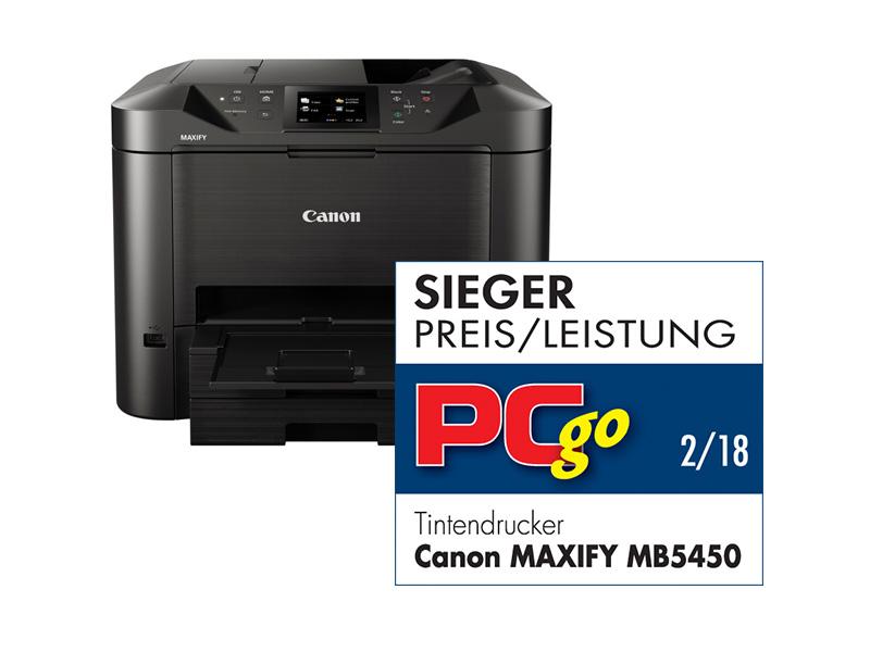 Canon MAXIFY MB5450, Farbe Tintenstrahl Drucker, A4, 22 Seiten pro Minute, Drucken, Scannen, Kopieren, Fax, Duplex und WLAN