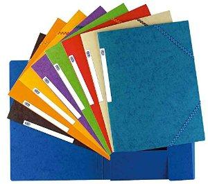 Eckspannermappe Top File, DIN A4, aus Karton, grün