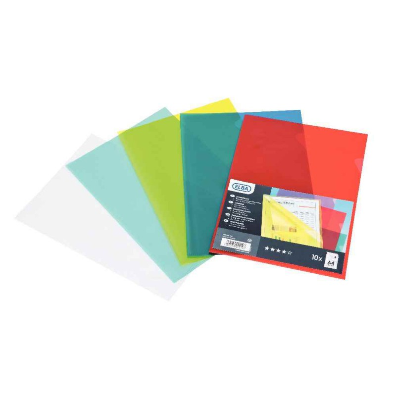 Sichthüllen, transparent, DIN A4, aus PVC, blau